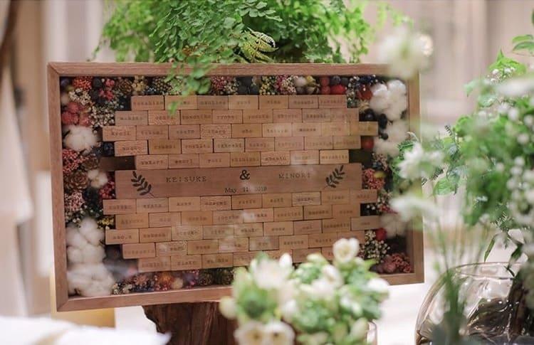『木』を使ってゲストと一緒に作り上げる結婚証明書が温かみがあって素敵*のカバー写真