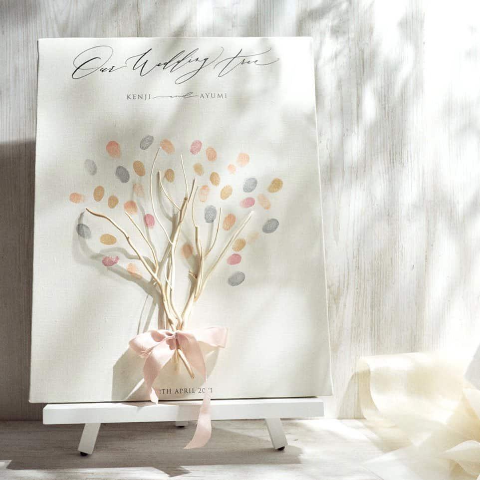 結婚証明書の新定番*本物の枝を使ったウェディングツリーがオシャレ♡のカバー写真