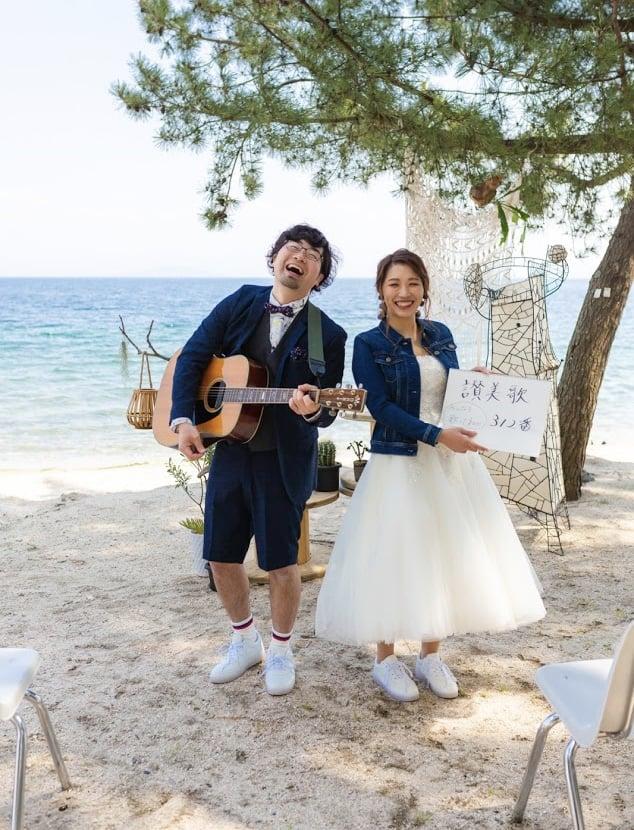 琵琶湖畔でオンライン結婚式!花嫁さんにインタビュー♡のカバー写真