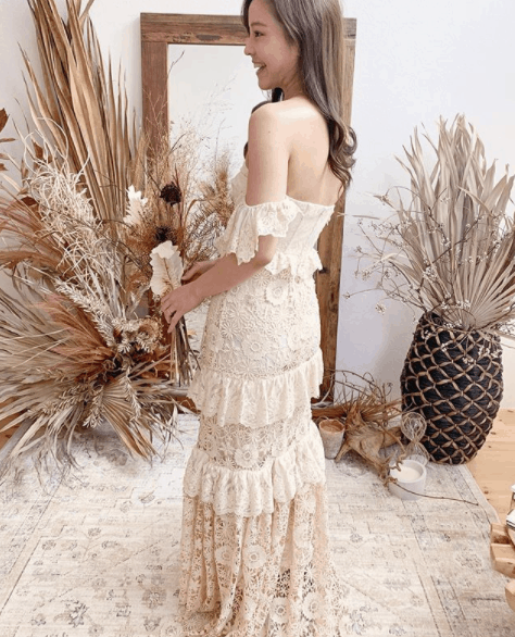 海外セレブも注目!《Spell Bride(スペルブライド)》のドレスで憧れのボーホーウェディングを♡のカバー写真