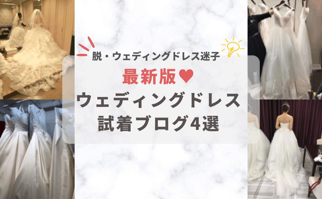 2021年最新版|ウェディングドレス迷子にならないために♡先輩の試着ブログを見て悩みを解決のカバー写真