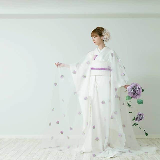 透け感が素敵♡【オーガンジー和装】の人気デザイン20選*のカバー写真 1